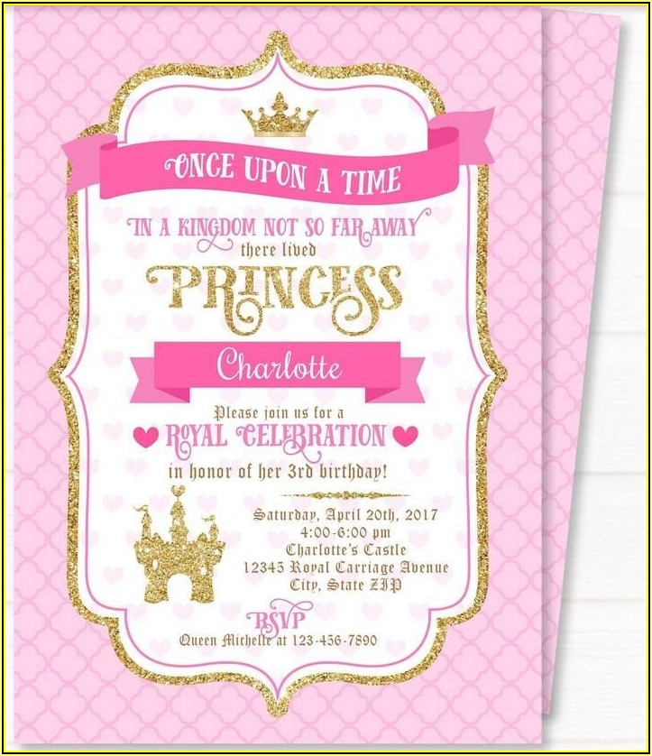 Free Editable Princess Baby Shower Invitation Templates