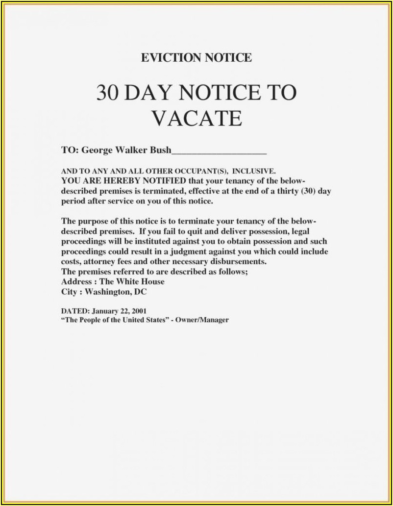 Free Eviction Notice Template Georgia