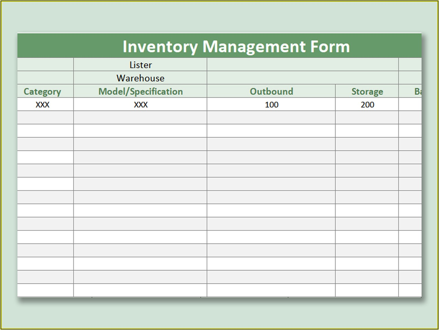 Free Excel Inventory Sales Template