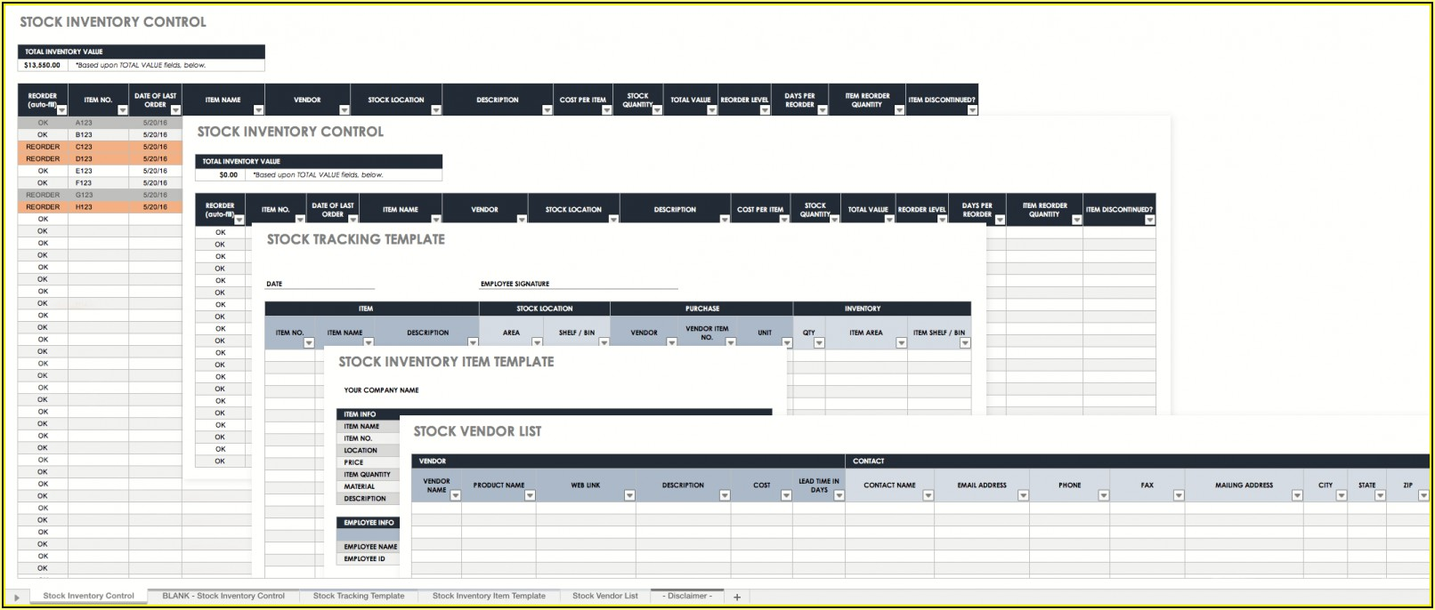 Free Excel Stock Inventory Template