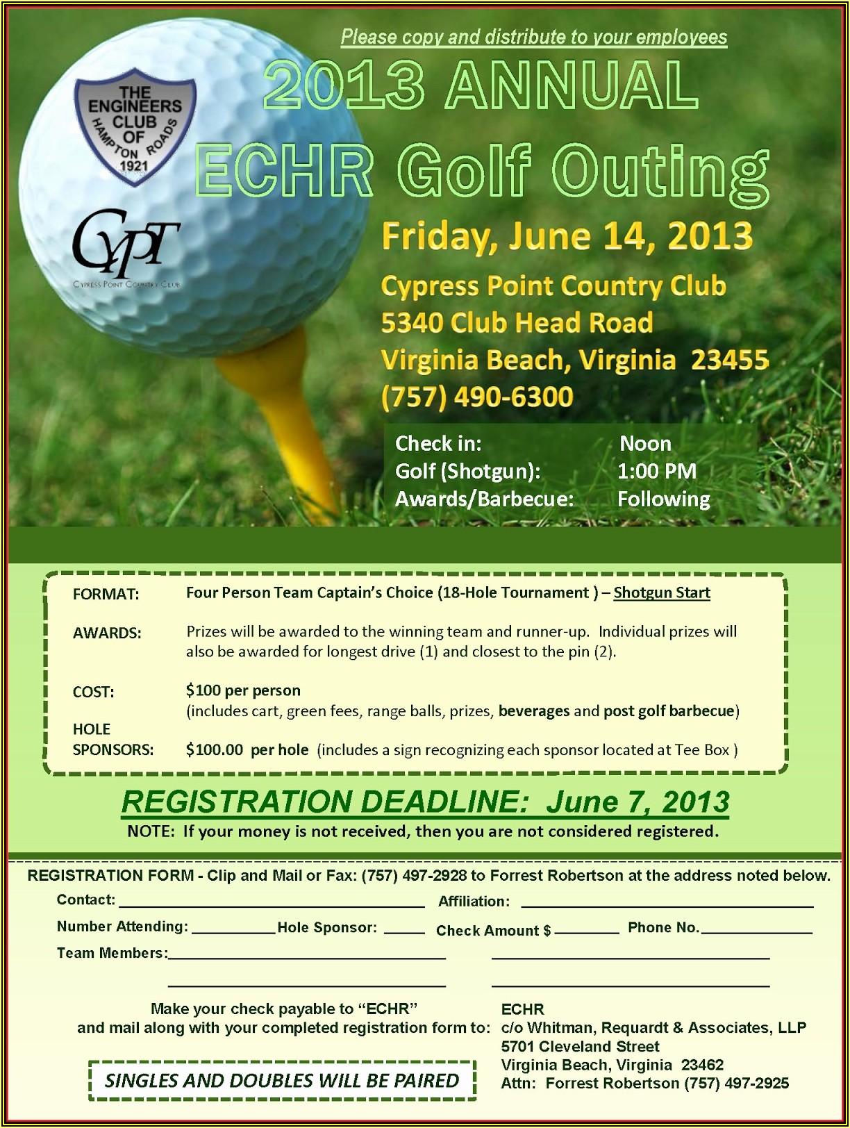 Free Golf Tournament Flyer Template Word