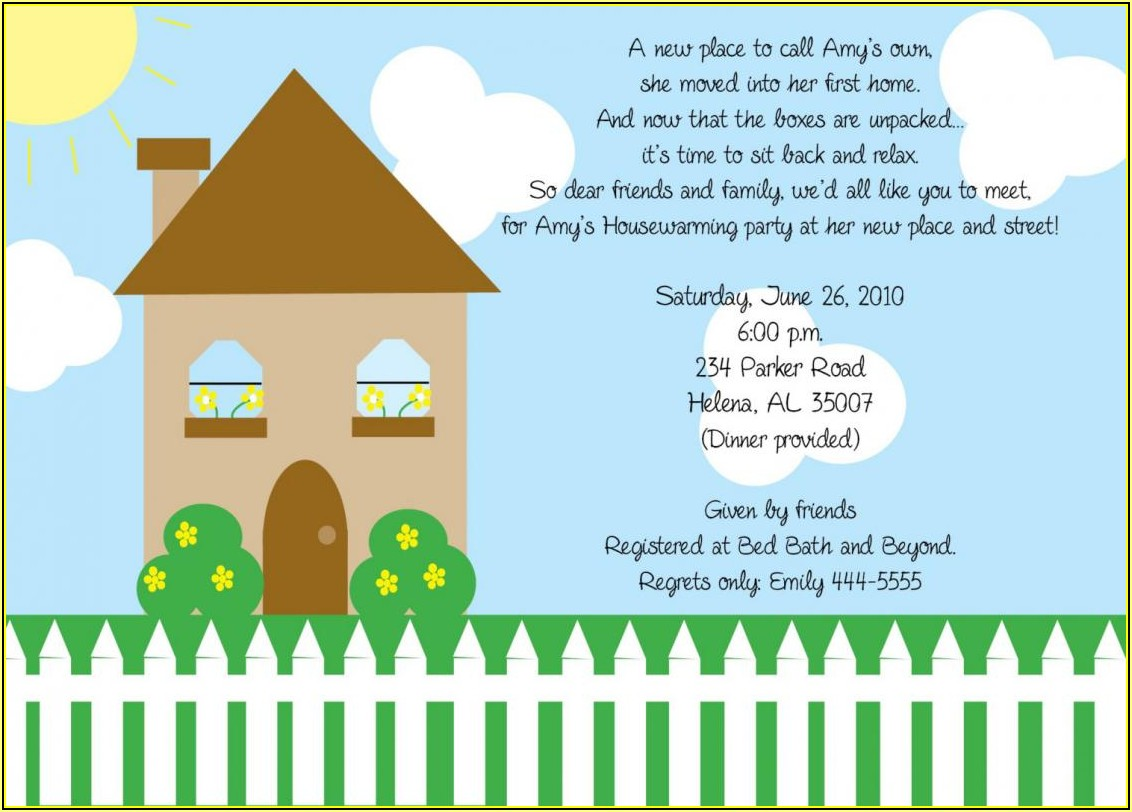 Free Housewarming Invitation Template Microsoft Word