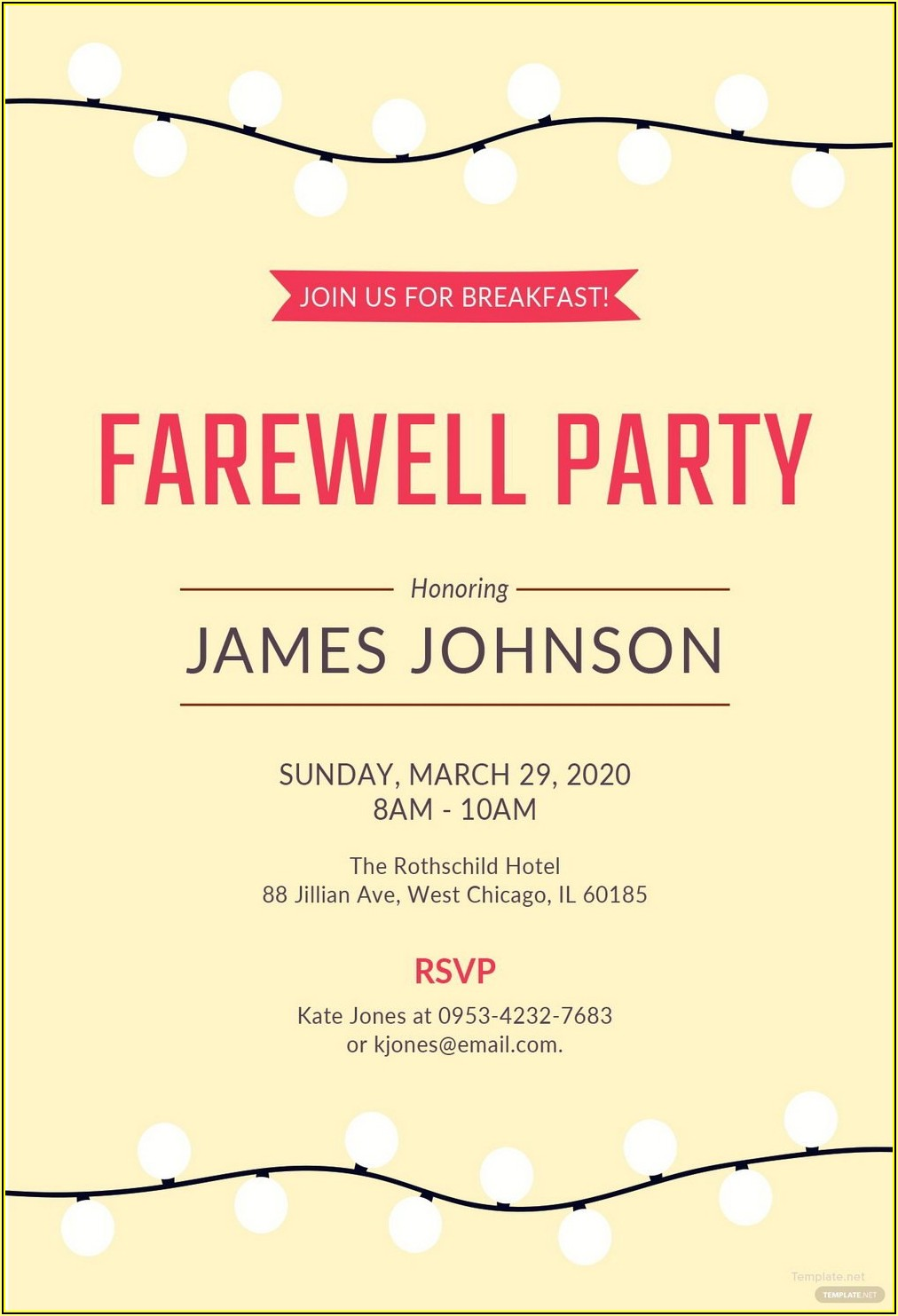 Free Invitation Card Template Word