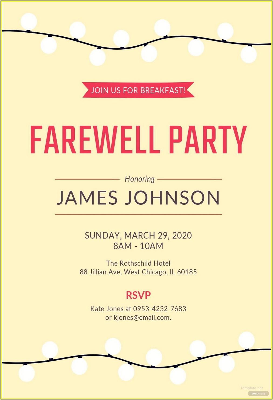 Free Invitation Card Template Word