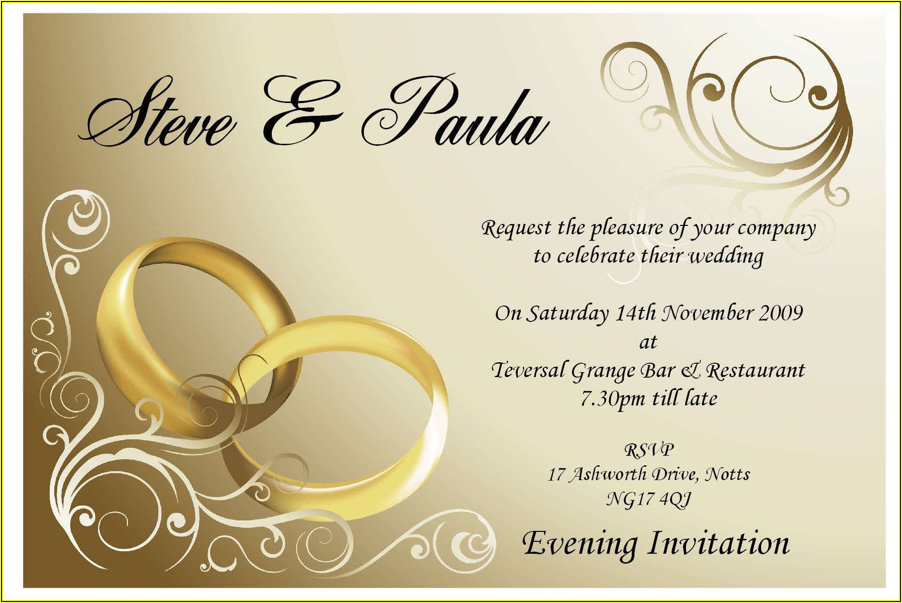 Free Invitation Card Templates For Engagement