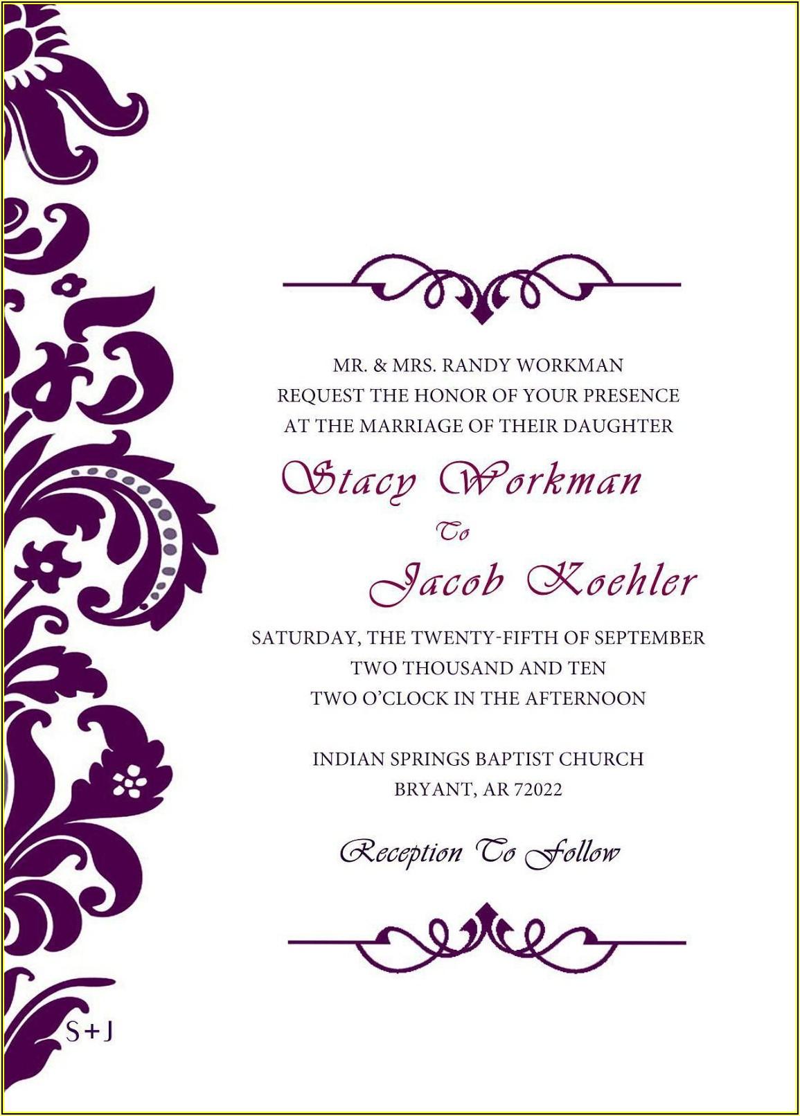Free Invitation Card Templates