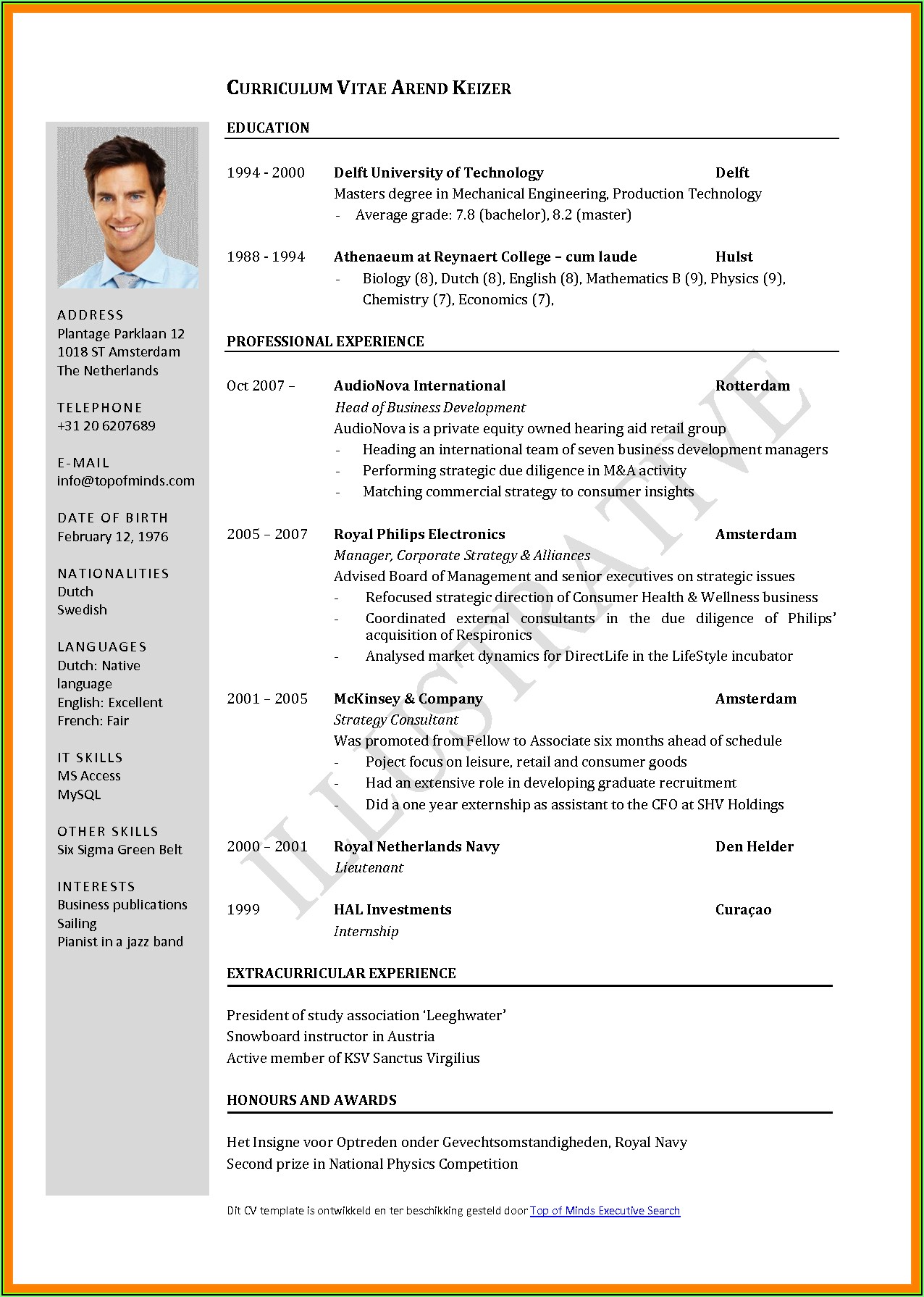 Resume Format Job Application Free Download