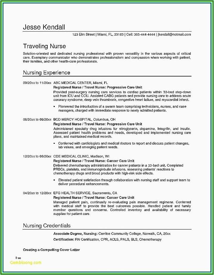Resume Registered Nurse Examples