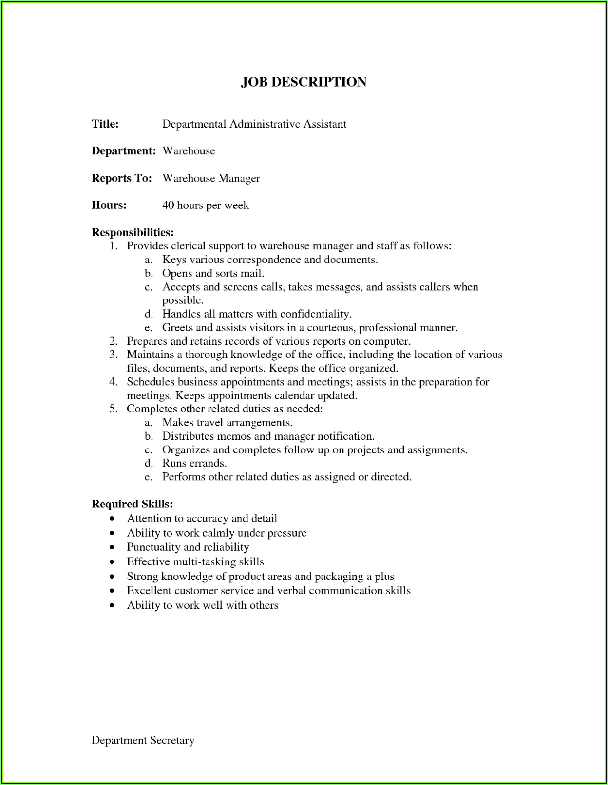 Resume Sample For Job Free Download