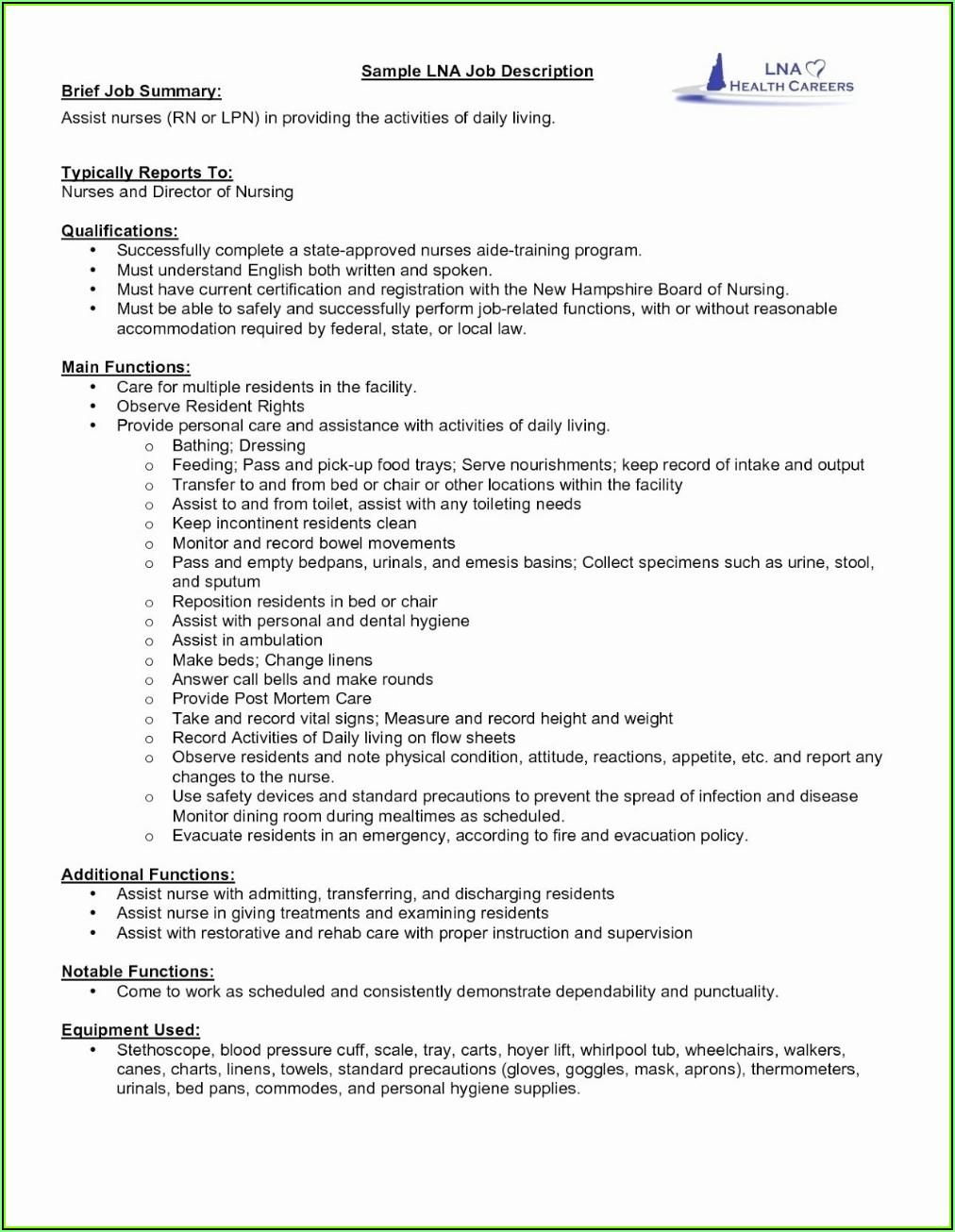 Resume Sample For Newly Registered Nurses