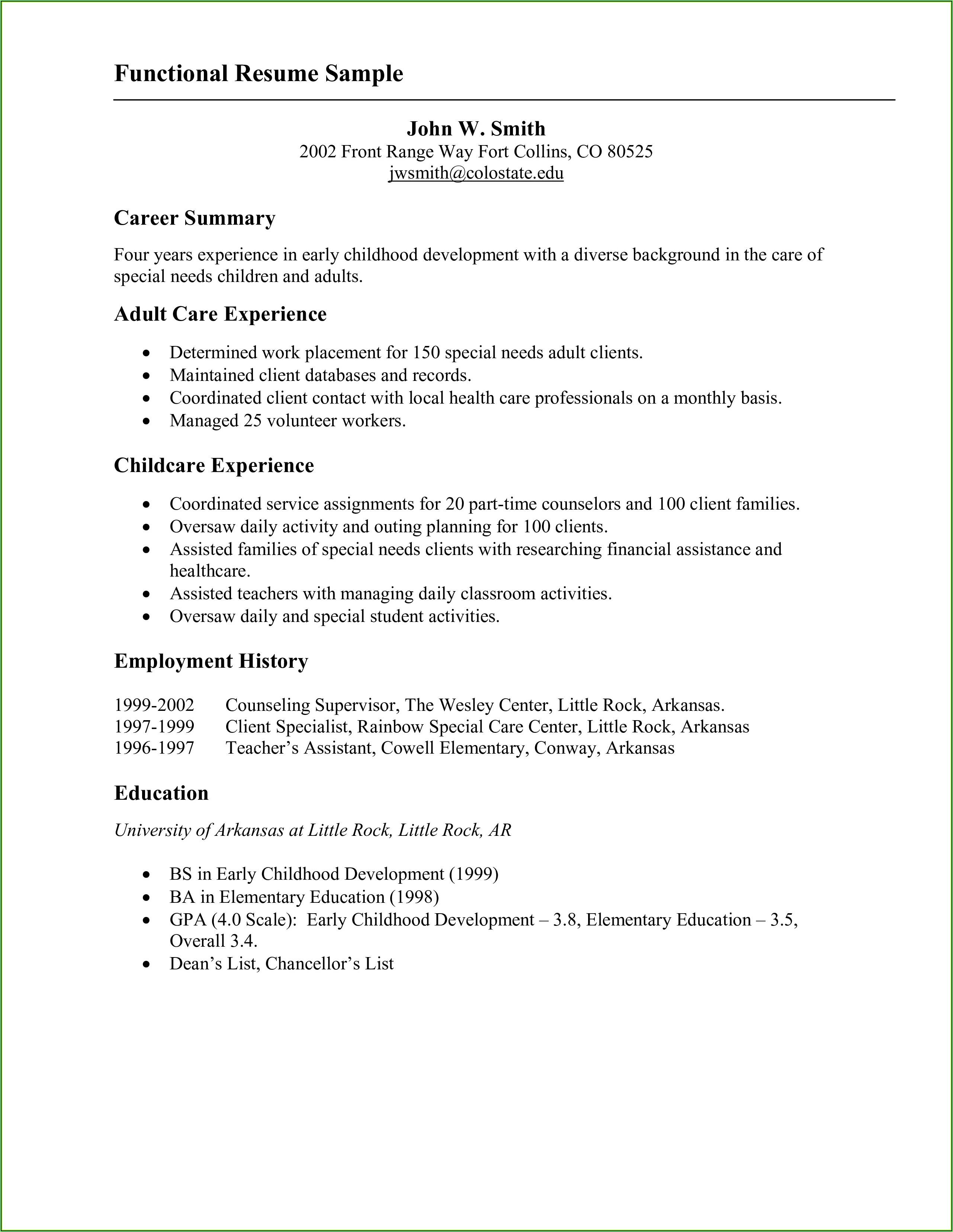 Resume Sample Template Download