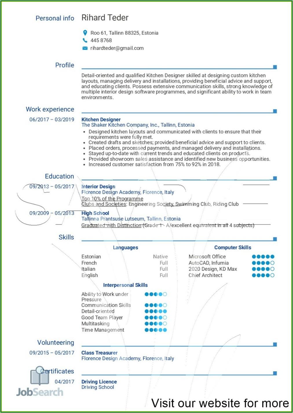 Resume Samples Australia