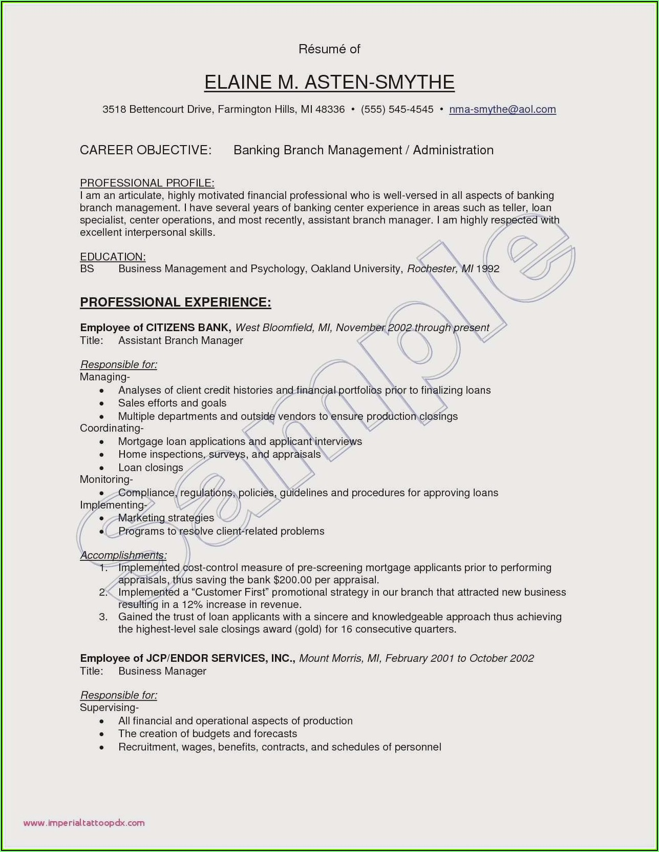 Resume Samples For Experienced Kpo Professionals