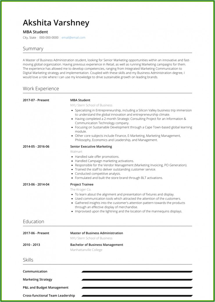 Resume Samples For Finance Professionals