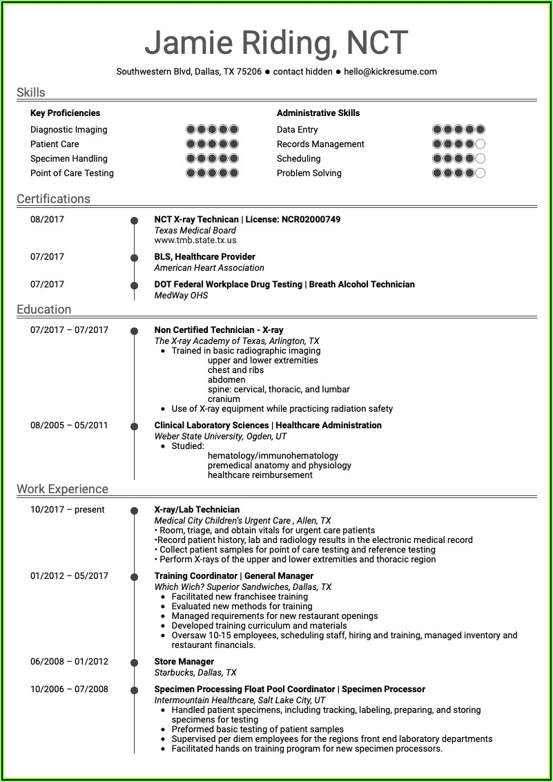 Resume Samples For Healthcare Professionals