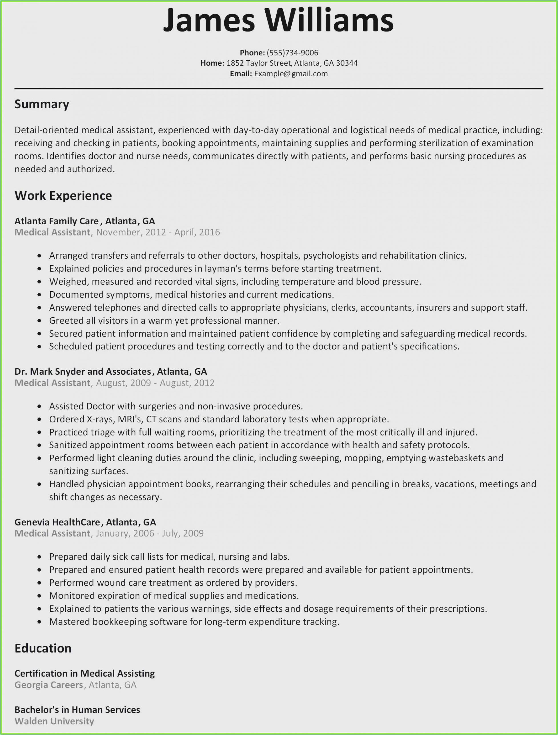 Resume Template Electrician Australia