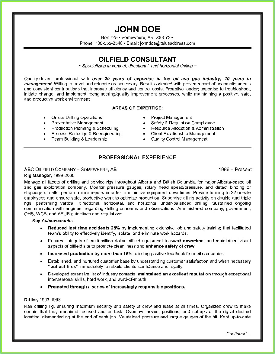 Resume Template For Canada Jobs