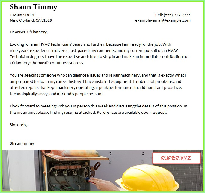 Resume Templates For Hvac Technician