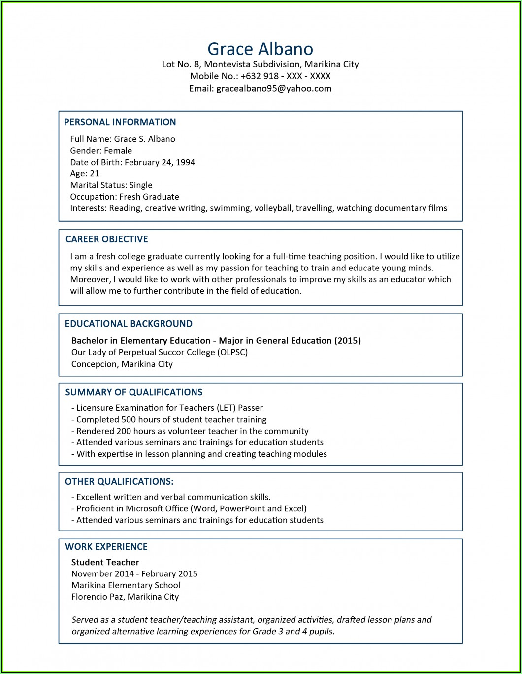 Resume Writing For Electrical Engineer