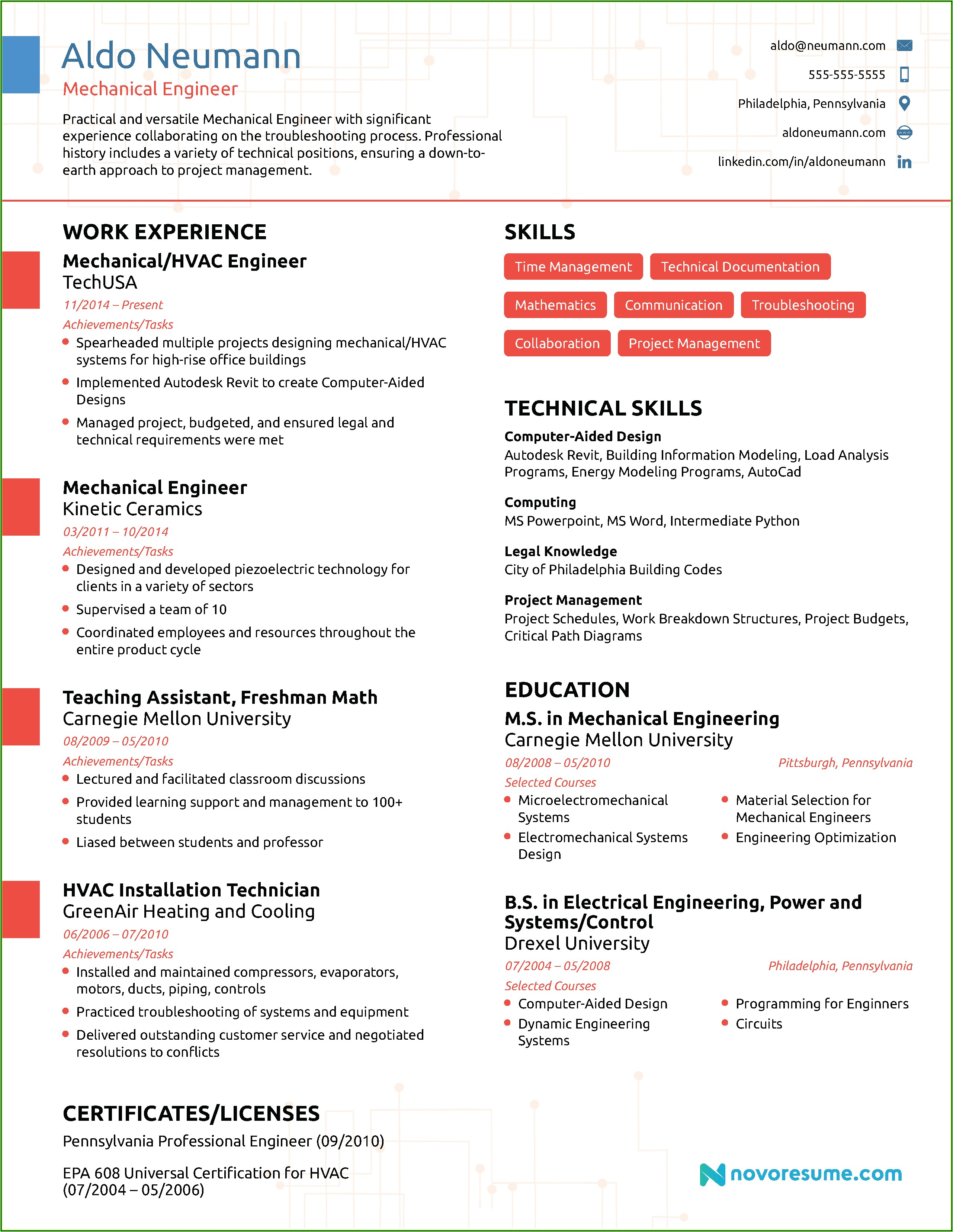 Resume Writing For Engineers