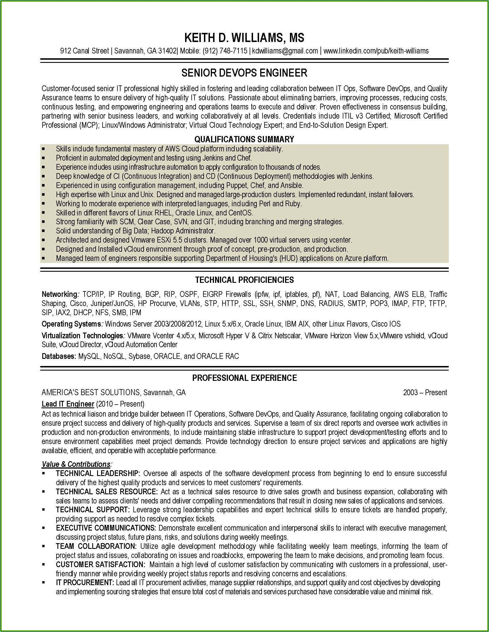 Resume Writing For Experienced Engineers