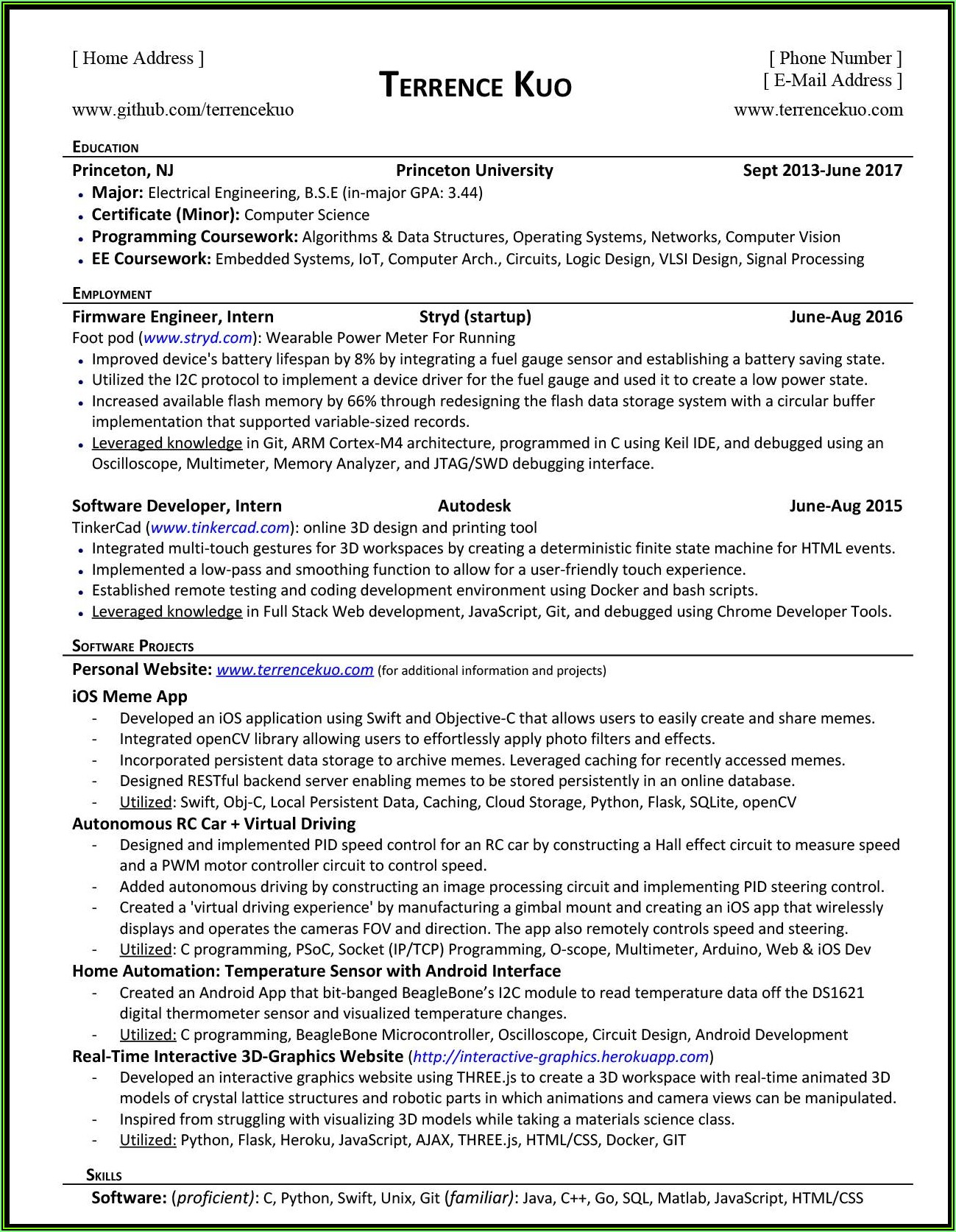 Resume Writing For Experienced Software Engineers
