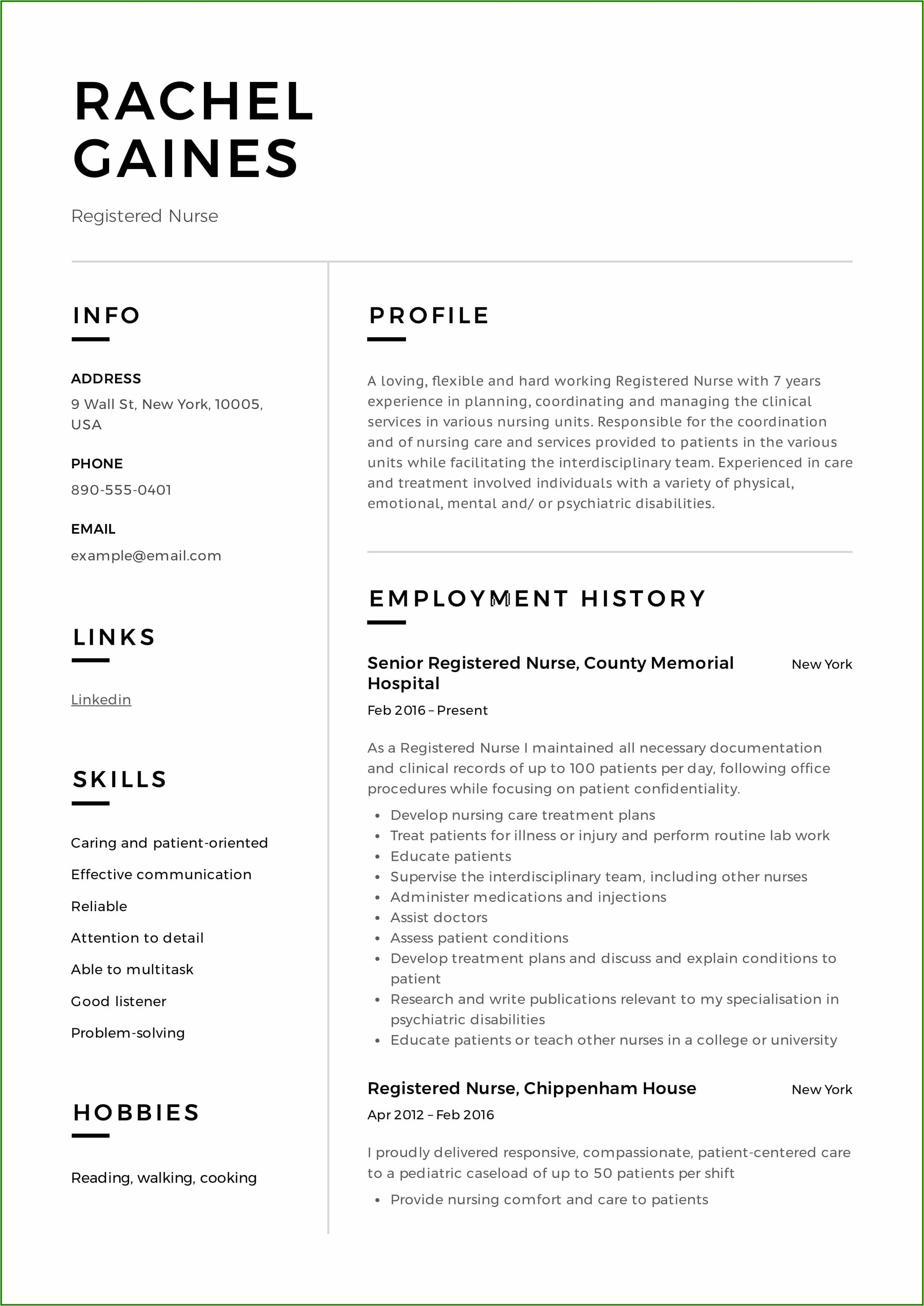 Rn Resume Generator