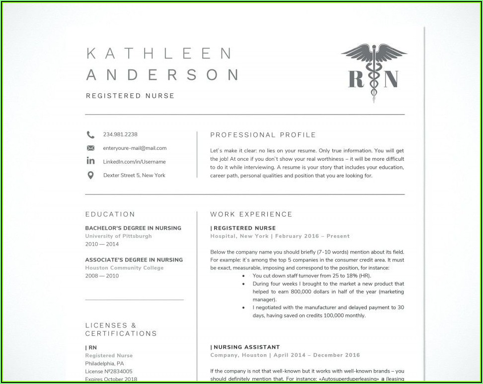 Rn Resume Template