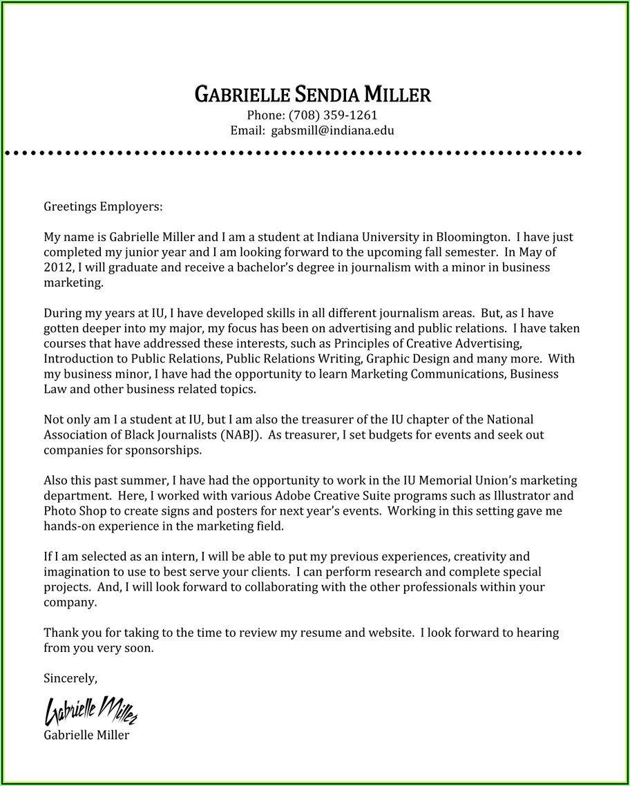 Sample Of Cv And Cover Letter