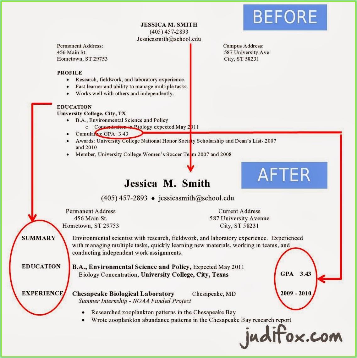 Sample Of Resume Writing For Freshers