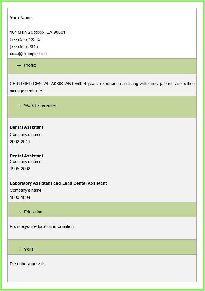Sample Resume Biodata Blank Form