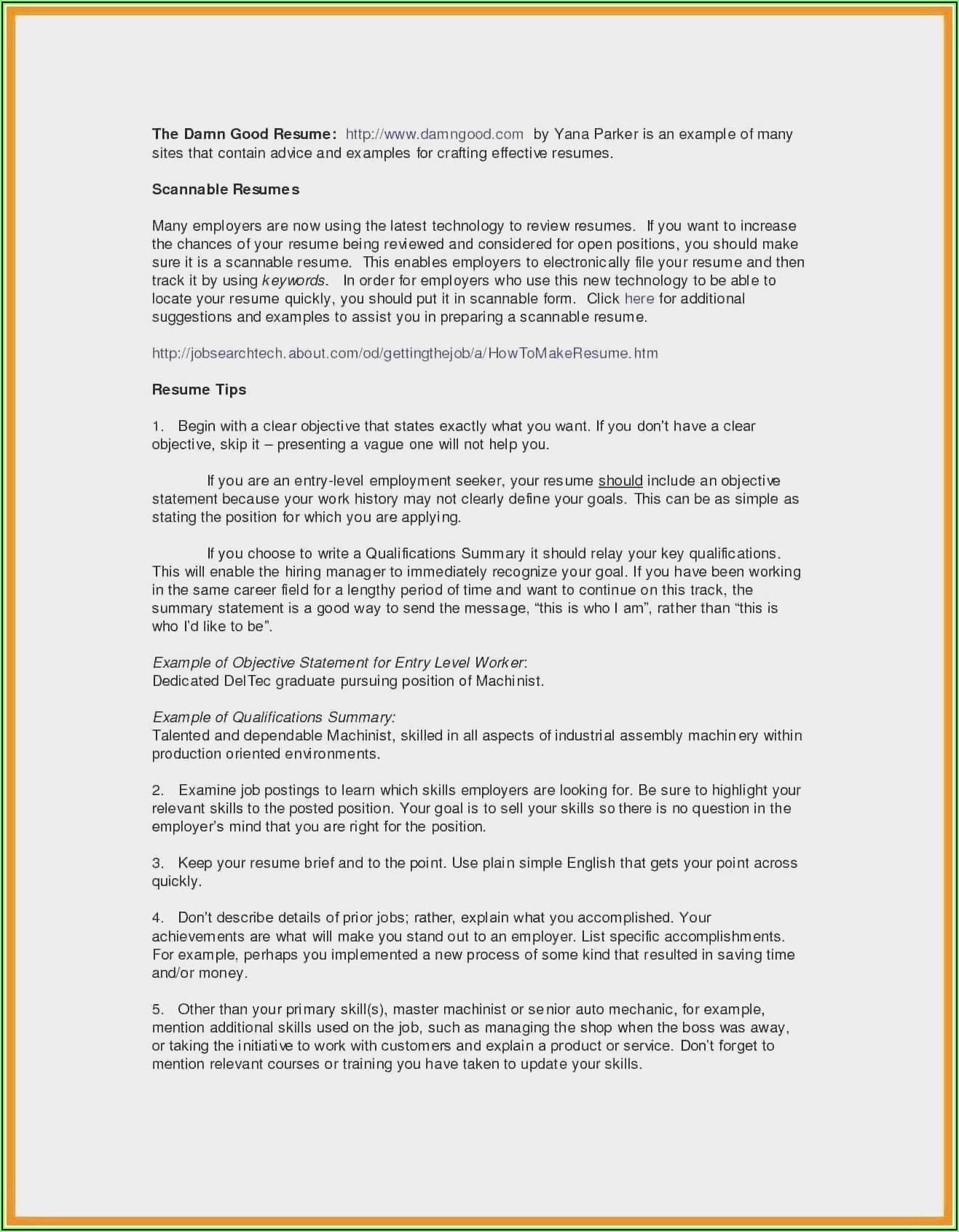 Sample Resume For Nursing Position