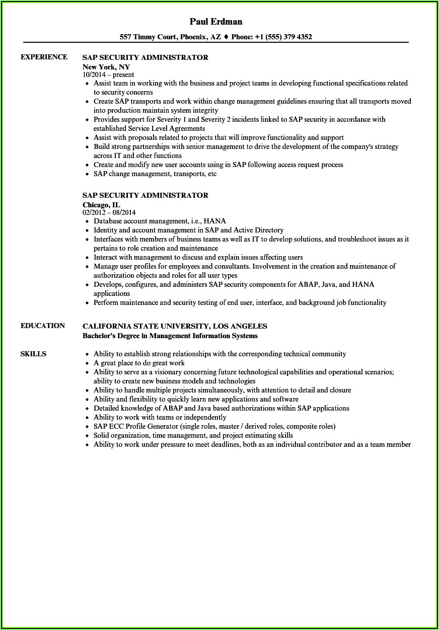 Sap Grc Security Resumes
