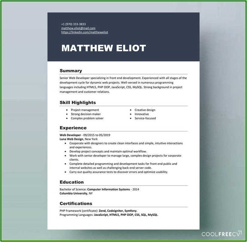 Show Me Free Resume Samples