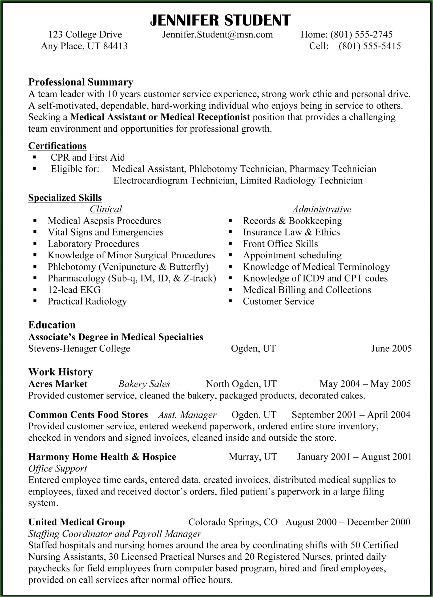Show Me Some Resume Samples