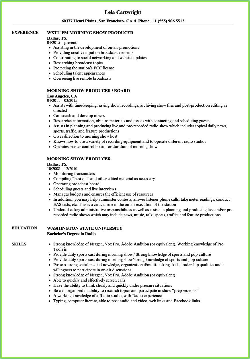 Show Resume Samples