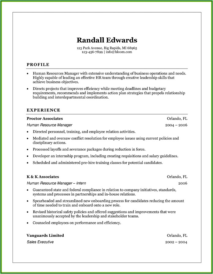 Simple And Effective Resume Templates