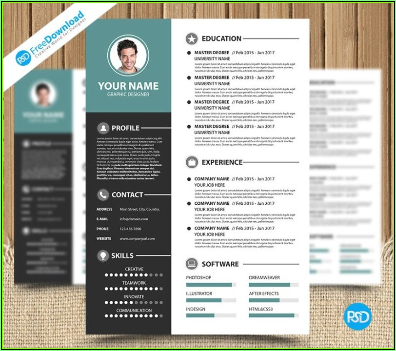 Simple Modern Resume Template Free Download
