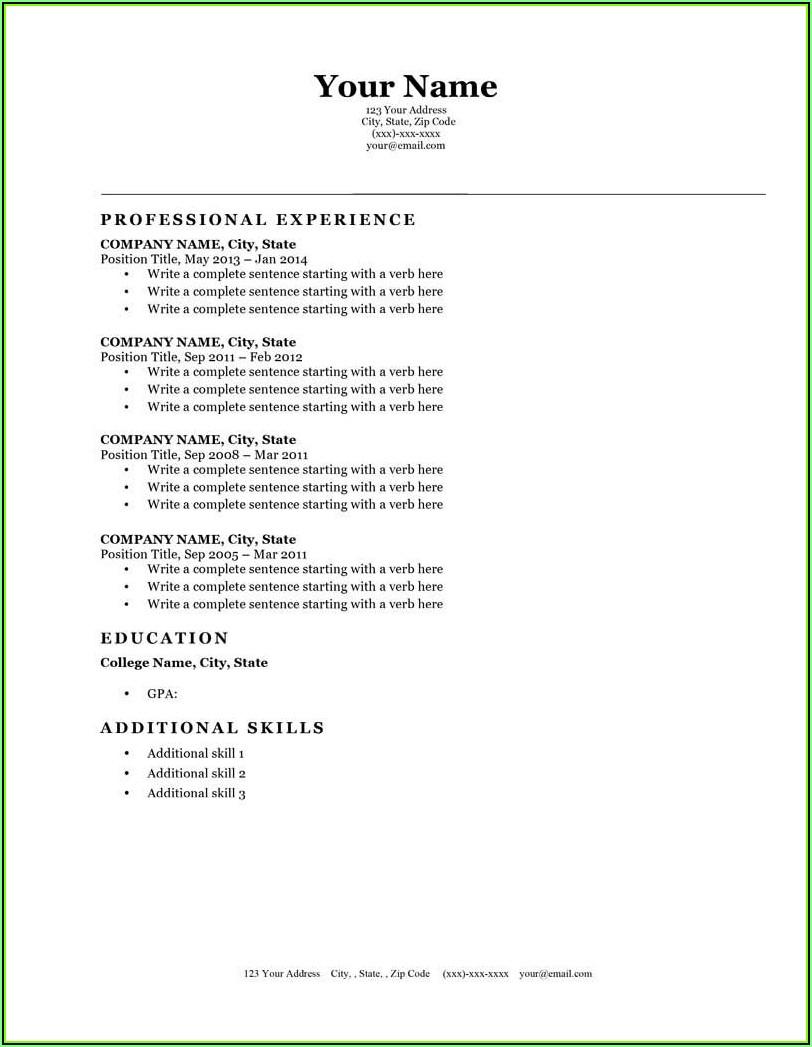 Simple Resume Builder Template