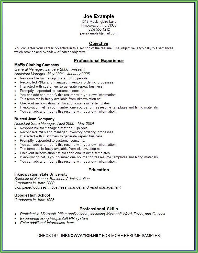 Simple Resume Creator Free