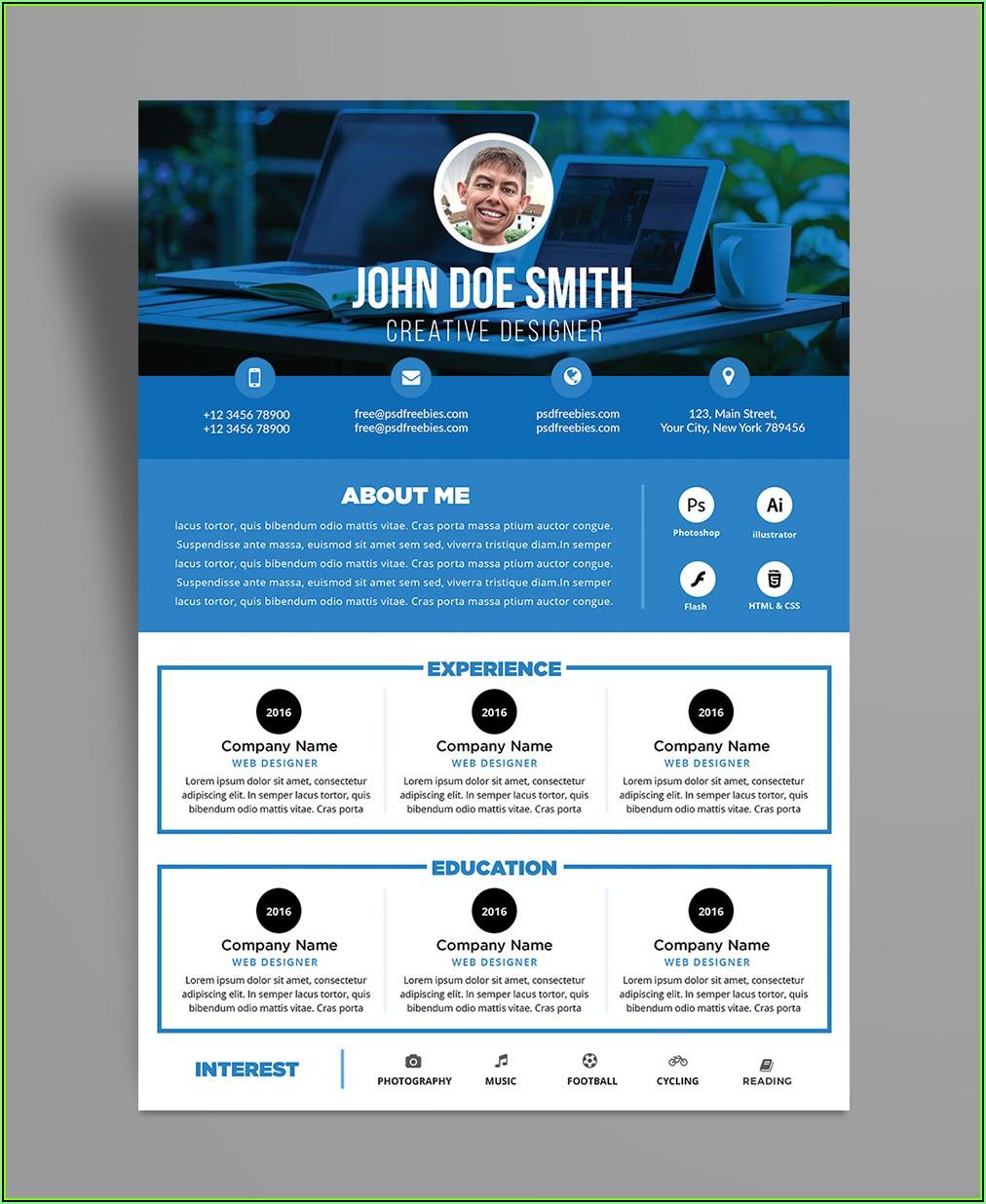 Simple Resume Format Download In Ms Word Free