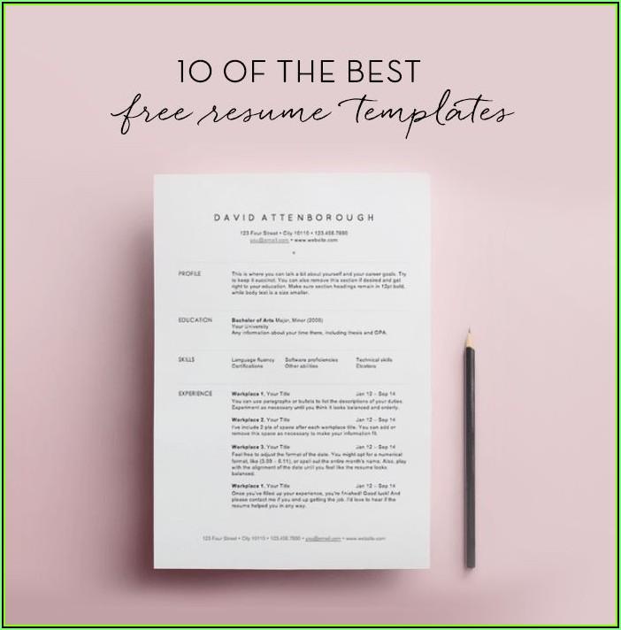 Simple Resume Format Pdf Download Free