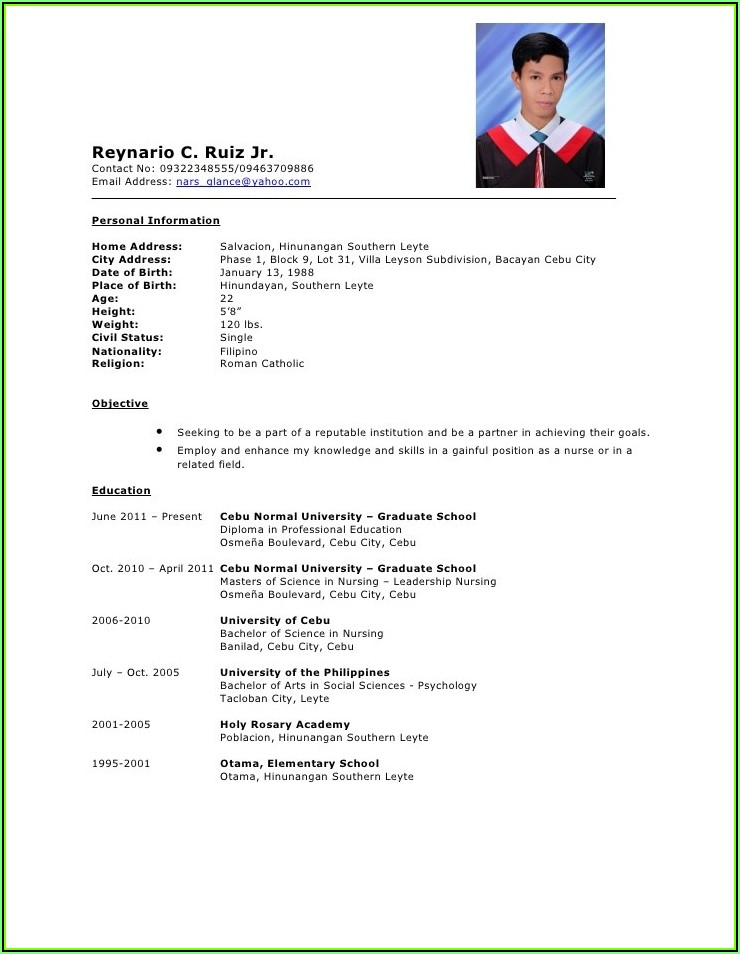 Some Best Resume Formats