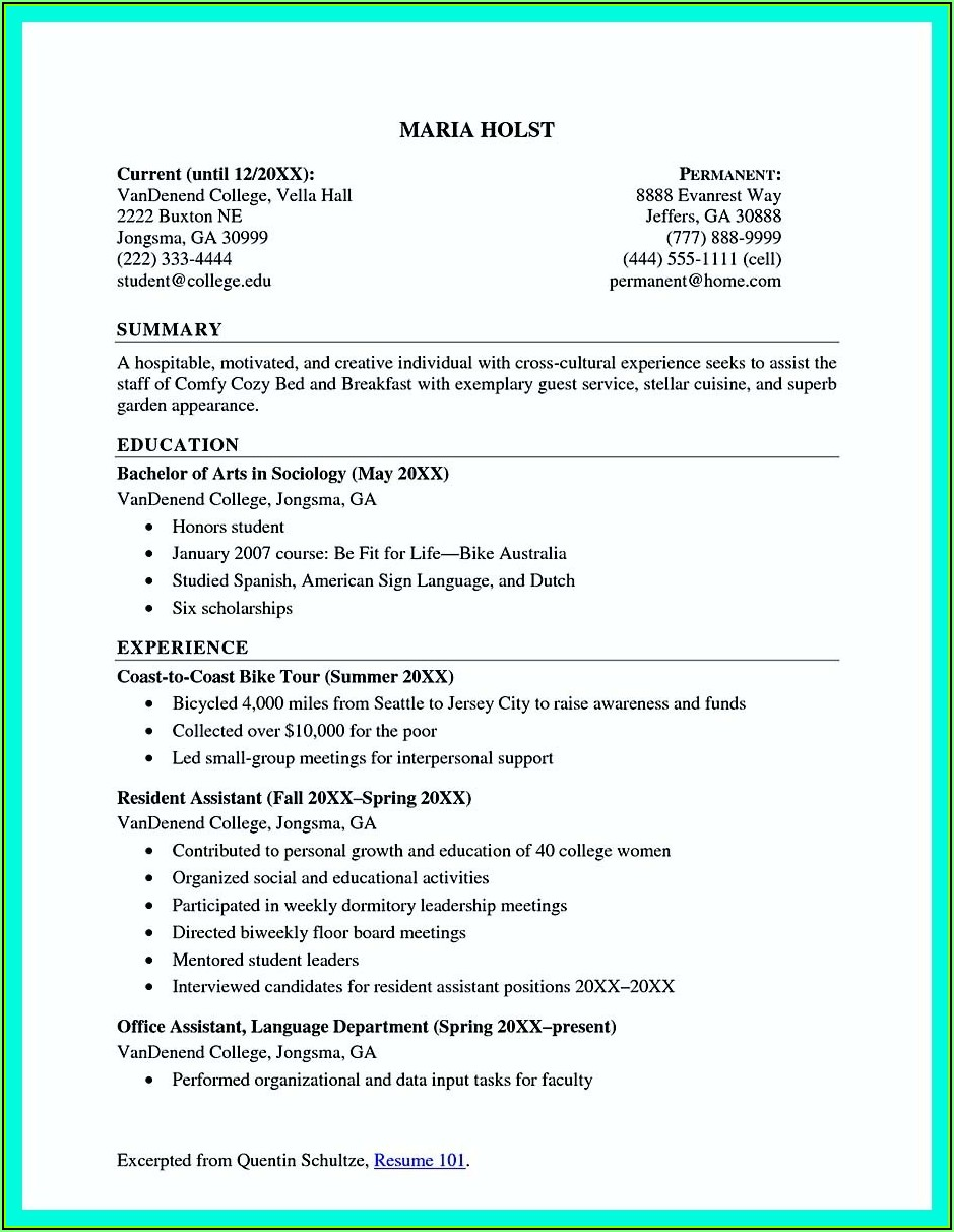 Step By Step Writing A Resume