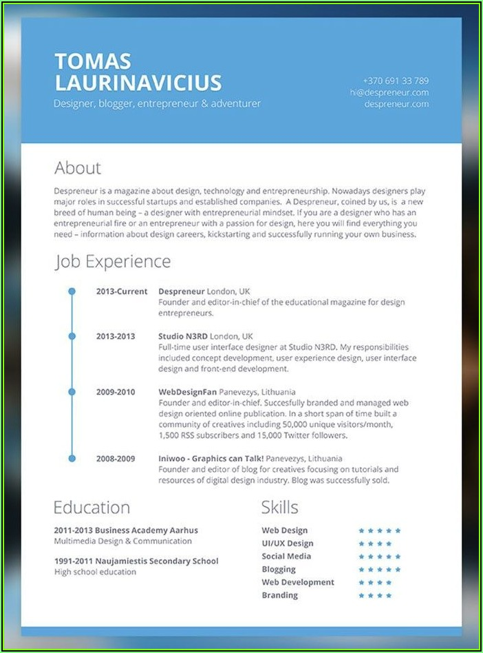 Text Resume Builder P&g