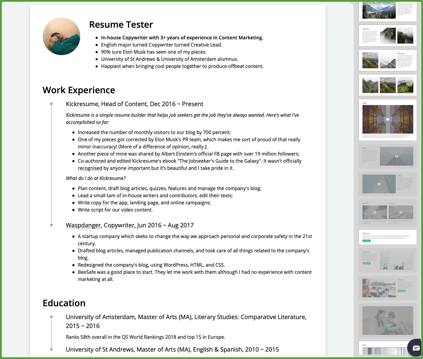 Top 10 Resume Maker Software