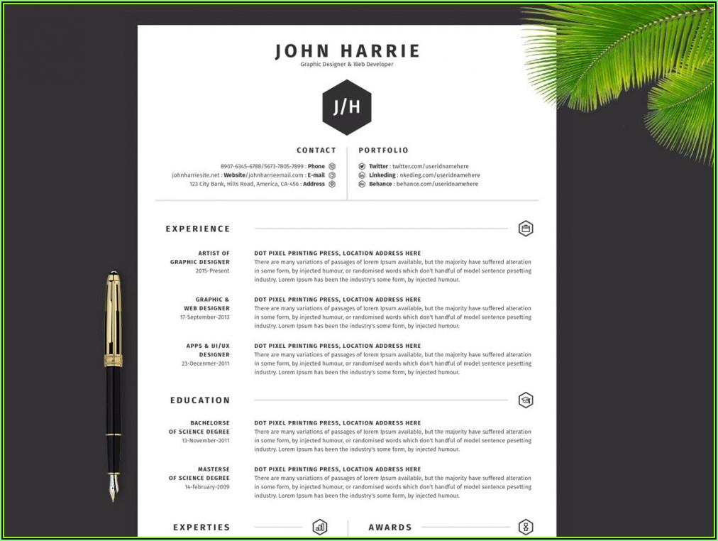 Top Resume Templates Download