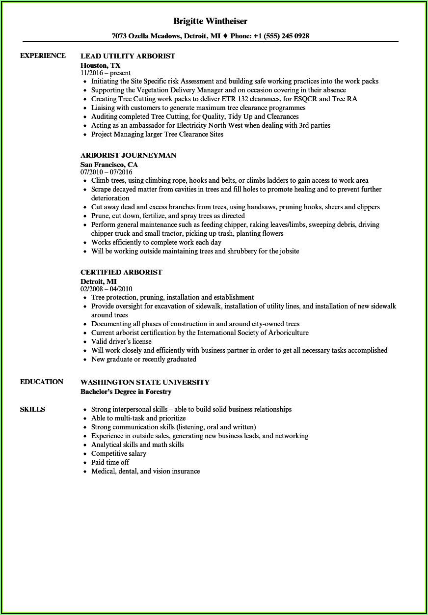 Tree Pruning Resume