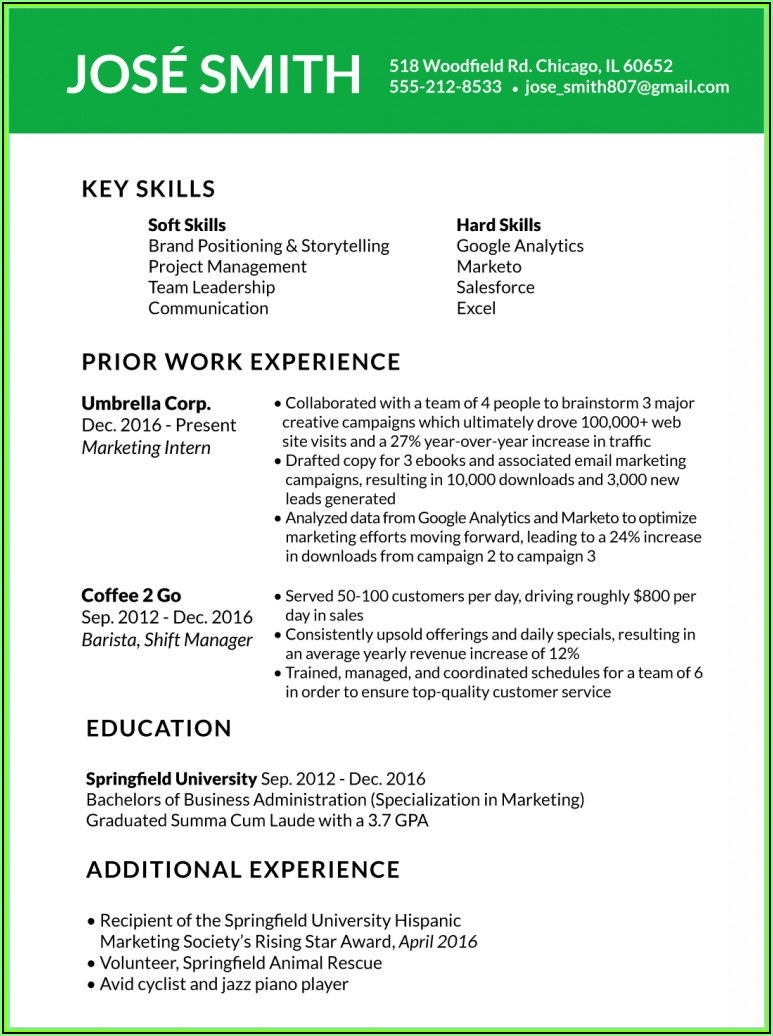 Updated Resume Templates 2018