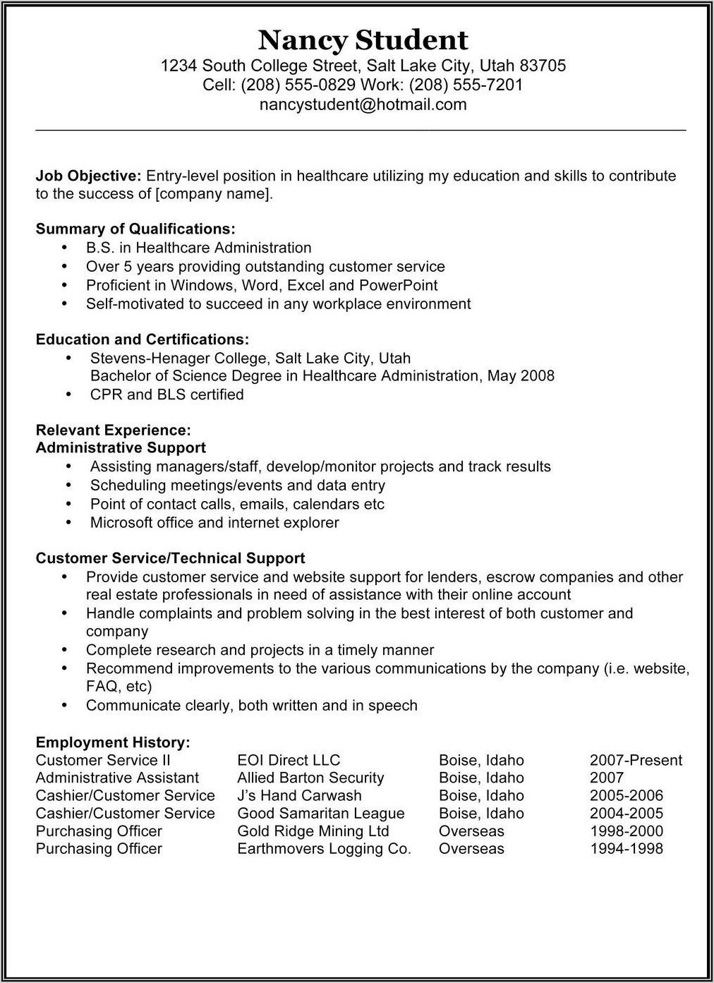 Va For Vets Resume Builder